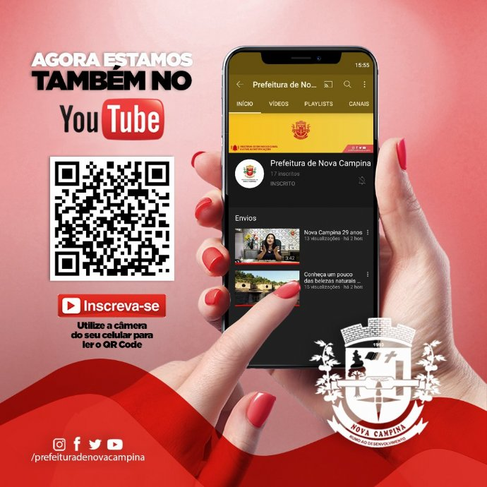 Prefeitura de Nova Campina agora tem canal no Youtube