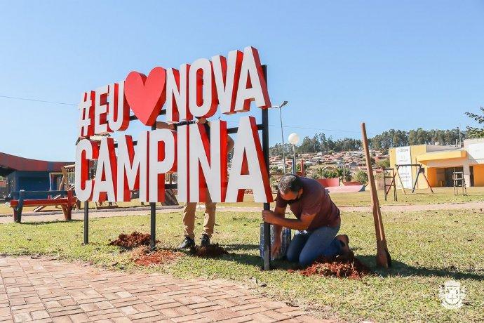 Prefeitura instala letreiro turístico na Praça da Lagoa