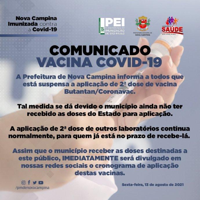 COMUNICADO VACINA COVID-19