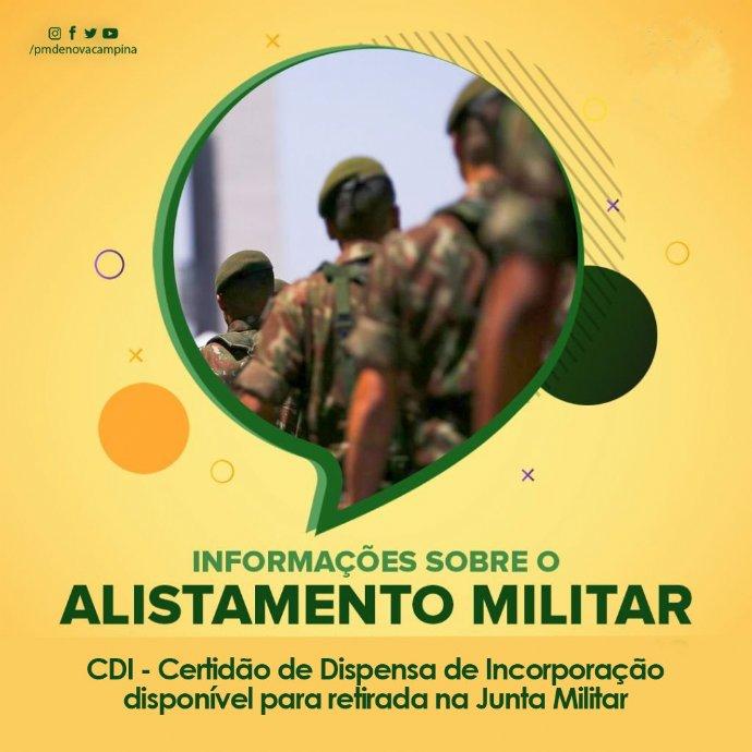 Junta Militar informa que o CDI está disponível para retirada