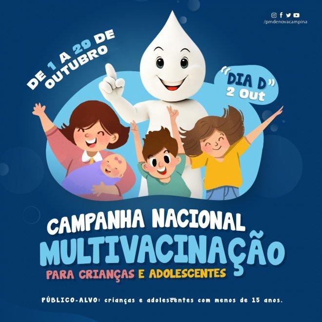 Crianças e adolescentes menores de 15 anos tem até 29 de outubro para atualizar Caderneta de Vacinaç