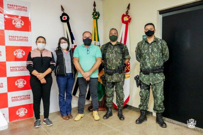 Secretaria de Obras, Agricultura e Meio Ambiente recebe visita da Polícia Ambiental