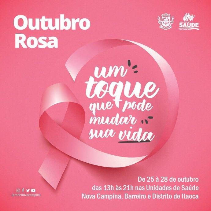 Secretaria de Saúde divulga cronograma de atividades da Campanha Outubro Rosa