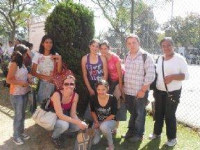 Jovens beneficiários do Programa Ação Jovem estiveram na Feira de Profissões da USP em São Paulo.