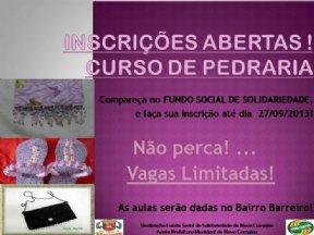 INSCRIÇÕES ABERTAS PARA CURSOS NOS BAIRROS