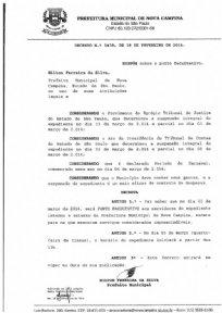 Decreto nº1439, de 18 de Fevereiro de 2014.