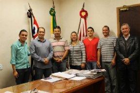 Reunião com vereadores é realizada na Prefeitura Municipal.