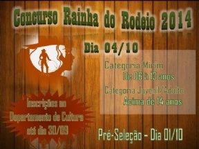 """"""" Concurso Rainha do Rodeio 2014""""."""